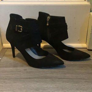 BCBG Black Velvet Heels
